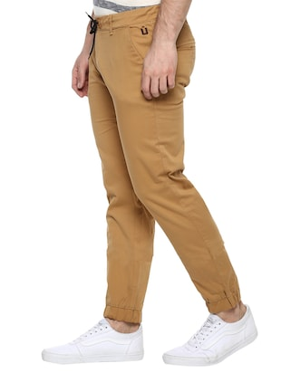 brown cotton joggers - 15175556 - Standard Image - 2