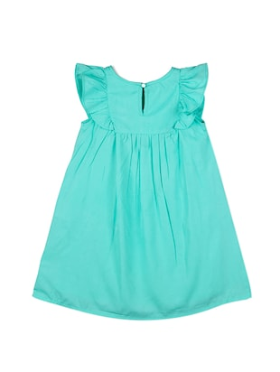 green polyester frock - 15176354 - Standard Image - 2