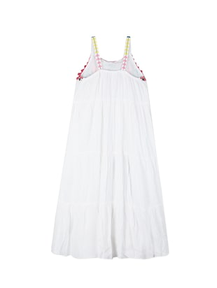 white cotton frock - 15176358 - Standard Image - 2