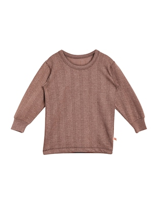 brown cotton blend thermal set - 15176741 - Standard Image - 2