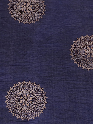 blue cotton printed dupatta - 15177187 - Standard Image - 2