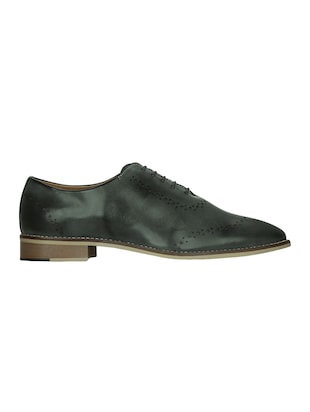 grey leatherette lace-up oxford - 15177344 - Standard Image - 2