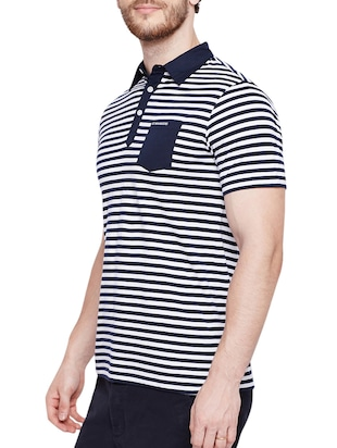 navy blue cotton pocket t-shirt - 15178450 - Standard Image - 2