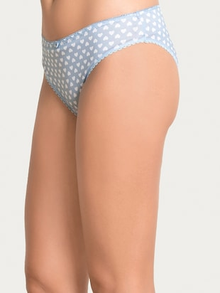 blue printed hipster panty - 15180770 - Standard Image - 2