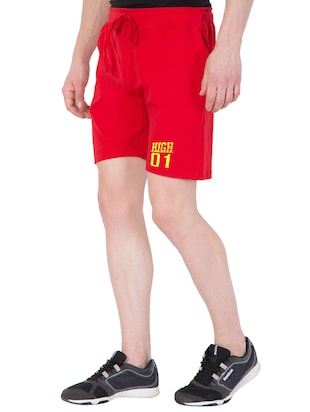 red cotton shorts - 15185578 - Standard Image - 2