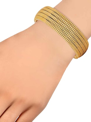 gold metal bangle - 15185778 - Standard Image - 2