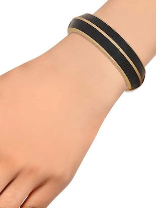 black metal bangle - 15185781 - Standard Image - 2