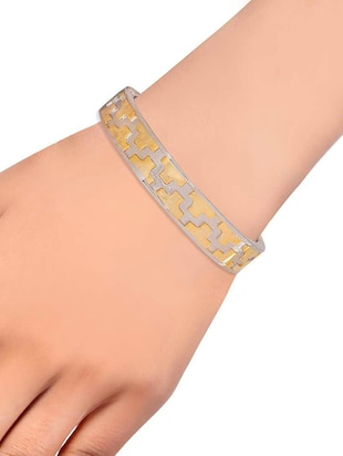 gold metal bangle - 15185785 - Standard Image - 2