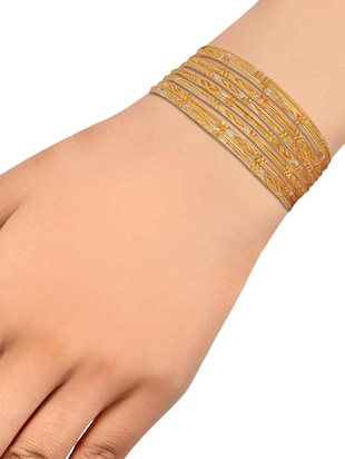 gold brass bangle - 15185884 - Standard Image - 2