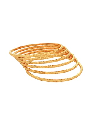 gold brass bangle - 15185893 - Standard Image - 2