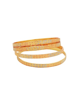 orange brass bangle - 15185933 - Standard Image - 2