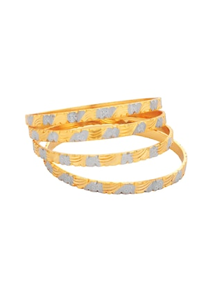 gold brass bangle - 15185989 - Standard Image - 2