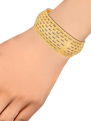 gold brass bangle - 15185998 - Standard Image - 2