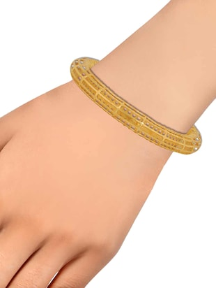 gold brass bangle - 15186001 - Standard Image - 2