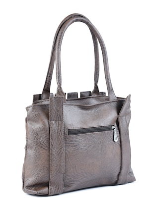grey leatherette  regular handbag - 15187187 - Standard Image - 2