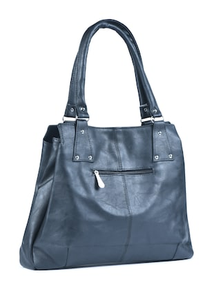 black leatherette  regular handbag - 15187200 - Standard Image - 2