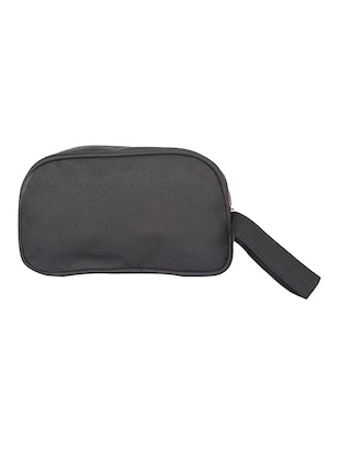black leatherette (pu) regular pouch - 15189894 - Standard Image - 2