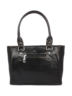 black leatherette (pu) regular handbag - 15189936 - Standard Image - 2