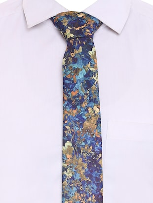 multi colored micro-fibre tie - 15190399 - Standard Image - 5