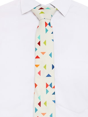 multi colored micro-fibre tie - 15190406 - Standard Image - 5