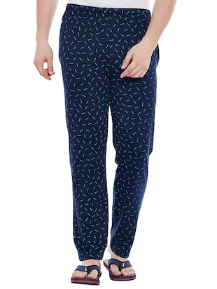 multi cotton  full length track pant - 15231833 - Standard Image - 2