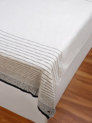 Stripped Knitted Throw - 15243477 - Standard Image - 5