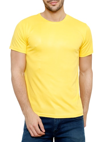 121e73d4 Buy Solid Neon Green Polyester T-shirt for Men from Alcis for ₹443 at 11%  off | 2019 Limeroad.com