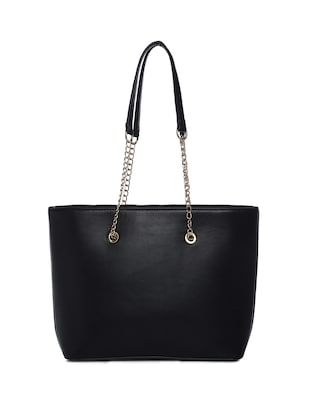 black leatherette (pu) regular handbag - 15272182 - Standard Image - 2