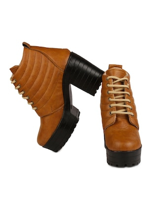 ae50140795c5 Buy Tan Pu Ankle Boots for Women from Orysta for ₹728 at 27% off ...