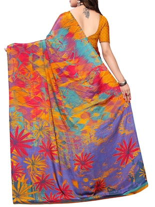 8c79a2491e4072 Abstract printed saree with blouse - 15287462 - Standard Image - 2 ...