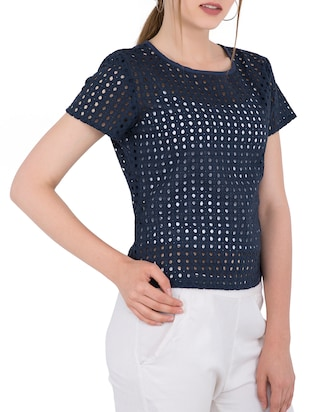 Cut work detail top - 15304815 - Standard Image - 2