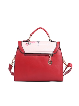 red leatherette (pu) regular sling bag - 15310950 - Standard Image - 2
