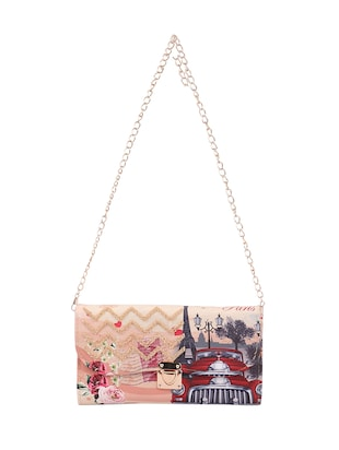 multi canvas printed sling bag - 15310967 - Standard Image - 5