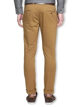 brown cotton chinos - 15311567 - Standard Image - 2