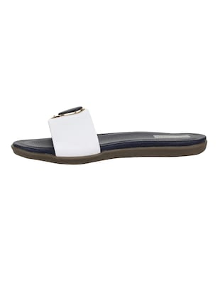 white  slip on sandal - 15318242 - Standard Image - 2