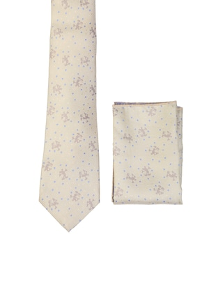 multi colored micro fiber tie with pocket square and belt - 15326425 - Standard Image - 2