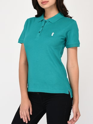 short sleeved polo tee - 15328245 - Standard Image - 2