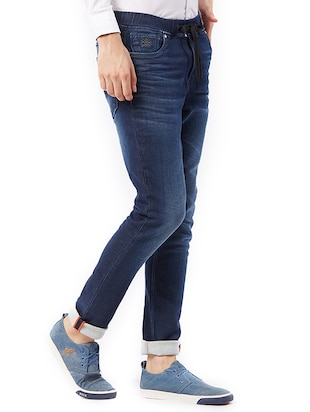 blue cotton washed jeans - 15328590 - Standard Image - 2