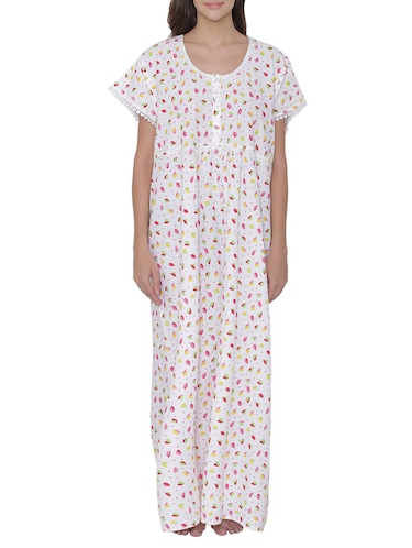 2e09ab2d85 Buy Ivory Polyester Sleepshirts   Nighty by Soie - Online shopping ...