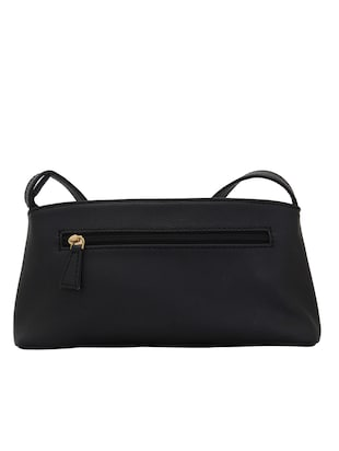 black leatherette (pu) regular sling bag - 15338900 - Standard Image - 2