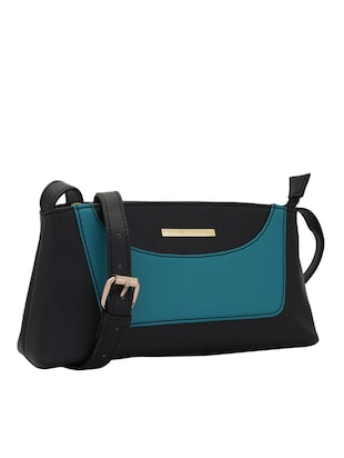 black leatherette (pu) regular sling bag - 15338900 - Standard Image - 5