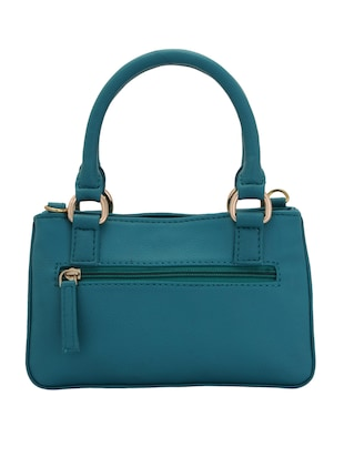 blue leatherette (pu) regular handbag - 15338930 - Standard Image - 2