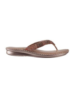 brown leather toe separator sandals - 15339447 - Standard Image - 2
