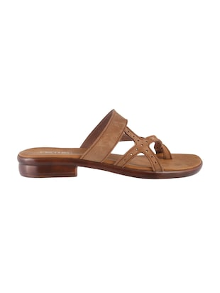 brown leatherette one toe sandals - 15339518 - Standard Image - 2