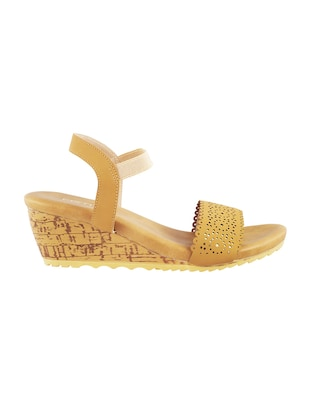 yellow back strap wedges - 15339715 - Standard Image - 2