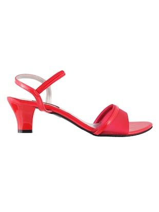 red leatherette ankle strap sandals - 15339784 - Standard Image - 2