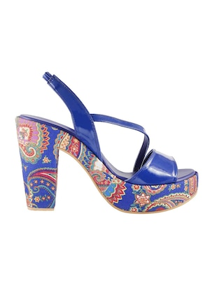 blue back strap sandals - 15339786 - Standard Image - 2