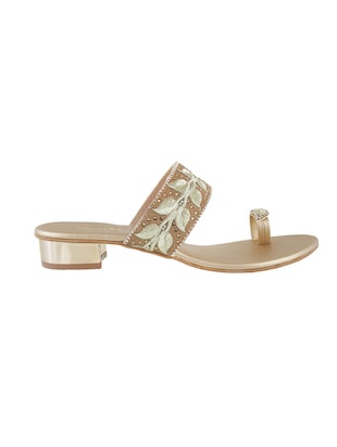 gold one toe sandals - 15339938 - Standard Image - 2