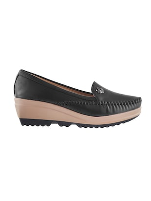 black slip on loafers - 15340032 - Standard Image - 2