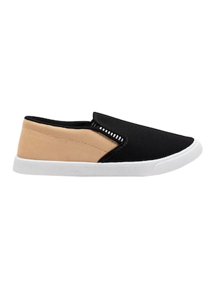 black Canvas casual slip on - 15340087 - Standard Image - 2